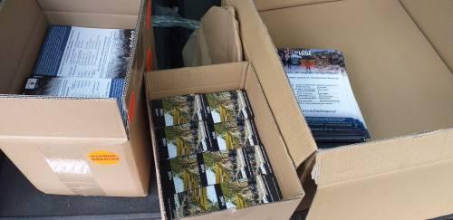 Przygotowanie materiałów i ulotek / Preparing of materials an leaflets