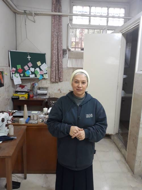Siostra Antoinette Battih, Kierownik Atelier / Sister Antoinette Battih is responsible for Atelier