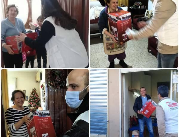 Dystrybucje paczek, piecyków i wsparcie finansowe dla potrzebujących w Bejrucie: październik-grudzień 2020