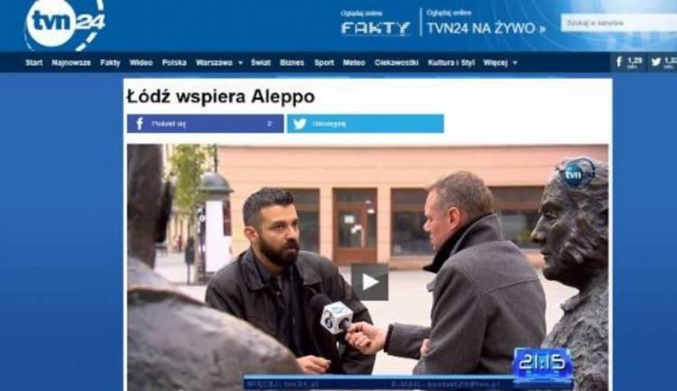 """O naszym projekcie """"Daj pracę!"""" dla Aleppo w TVN24"""