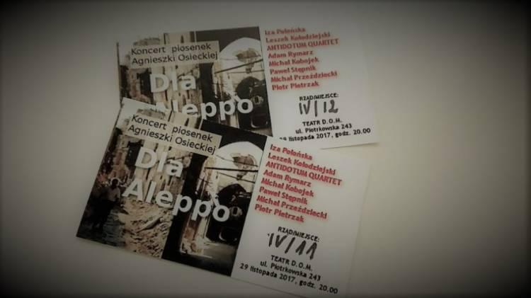 Koncert piosenek Agnieszki Osieckiej dla Aleppo